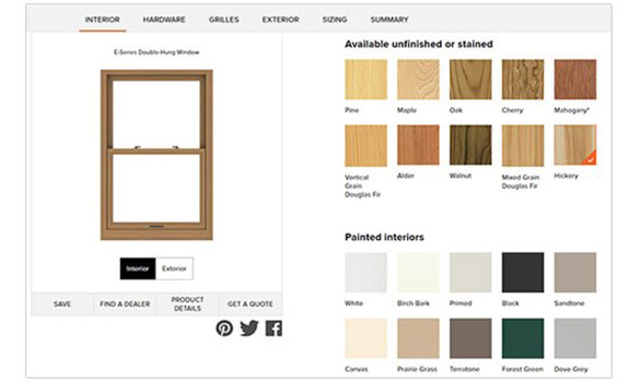 Andersen Window Design Tool